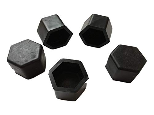 MINA-Products Surepromise SW17 SW19 SW21-20 copribulloni in Silicone per Auto, 17 mm, 19 mm, 21 mm, Colore Nero