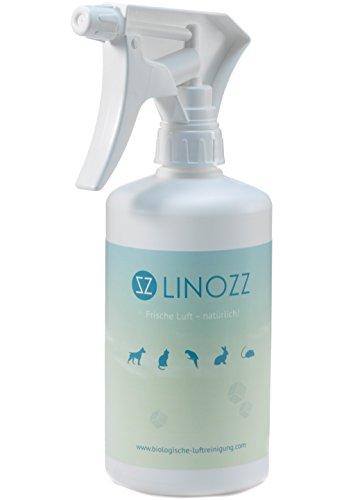 LINOZZ neutralizador de olores 500ml Elimina los olores Animales–Optimal contra Perros olores en casa, hundeurin olor olor, gato, gato orina olor–La Biológica olores