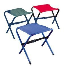 academy-broadway-50370-steel-frame-nylon-seat-folding-camp-stool-color-red-by-wenzel