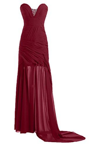 ivyd ressing robe simple ligne Étui Cœur de la découpe Prom Lave-vaisselle robe robe du soir Rouge - Rouge bordeaux