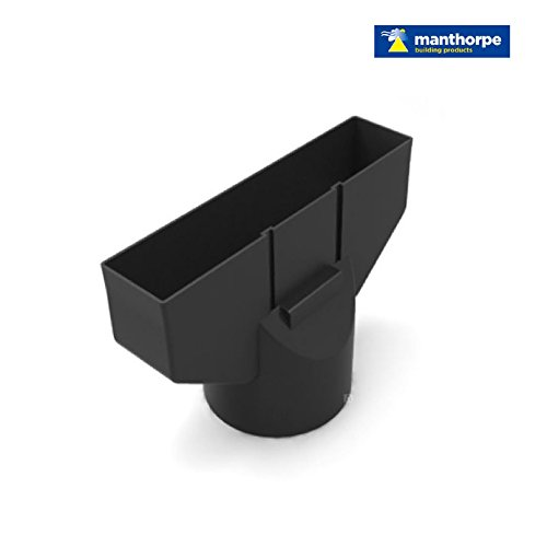 Grey Plain In Line Roof Tile Vent & Pipe Adaptor / for concrete and clay Tiles by Manthorpe