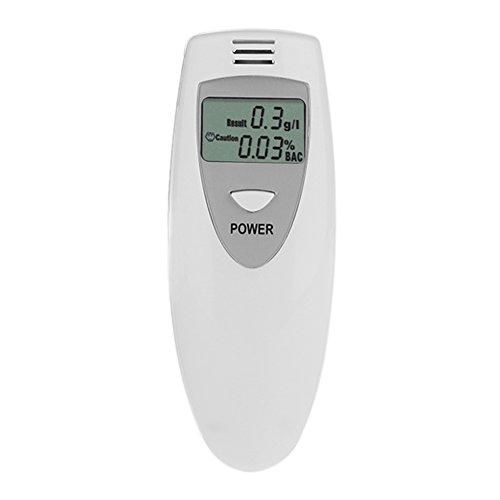 Domybest Alcoholímetro Digital Portátil LCD Digital, Analizador de alcoholemia