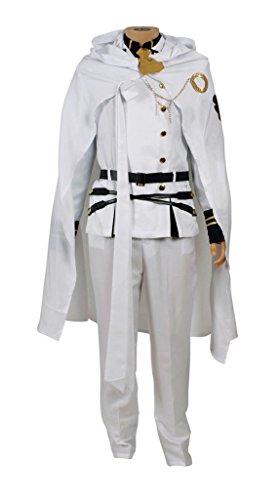 mtxc Herren Seraph der Ende Cosplay Kostüm Mikaela hyakuya Uniform, - Mikaela Hyakuya Kostüm