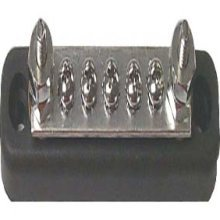 Sierra International FS46100 150A Common Bus Bar with Five 8-32 Screw & Two 10-24 Stud Terminals, Size 4.13