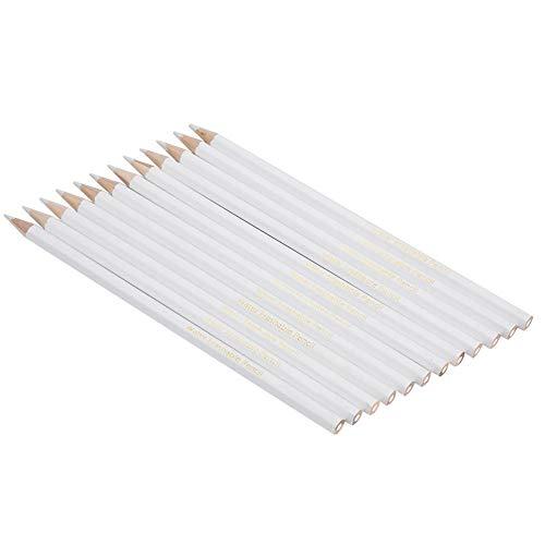 FTVOGUE 12 STÜCKE Wasserlöslicher Bleistift Weiß Nähen Markieren Bleistift Schneiderin Praktisches Werkzeug -