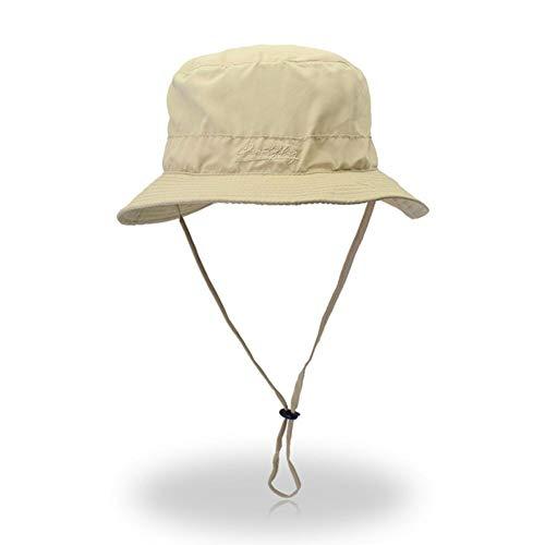b0ba3a9fe Leking Fishing Bucket Hombres Verano String Hat Cap
