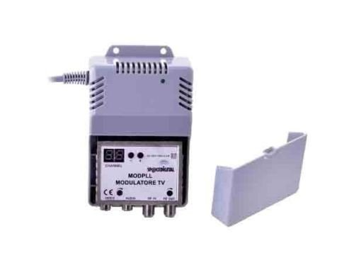 MICROELETTRONICA - Modulator Audio/Video RF PLL betrieben Sender DB 85 58.7000.50 Rf-video-sender