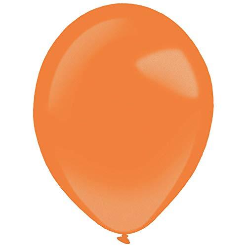 amscan 9905396 - Globos de látex (50 Unidades), Color Naranja