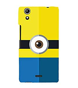 Cartoon Eye Design 3D Hard Polycarbonate Designer Back Case Cover for Micromax Canvas Selfie 2 Q340
