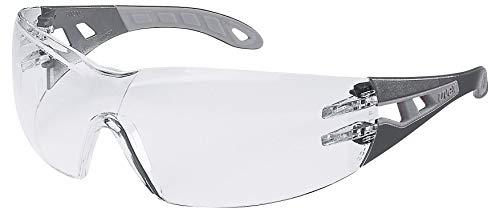 Uvex Pheos S Schutzbrille - Supravision Excellence - Transparent/Schwarz-Grau