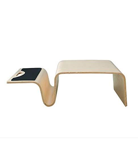 Wy-zddnz tabella del computer portatile di legno curvo personalità creativa, letto/divano / con scrivania da computer