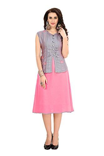 one piece dress for women party wear western (Semi-stitched)