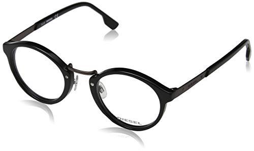 Diesel Unisex-Erwachsene Brillengestelle DL5216 001 48 Schwarz (NERO LUCIDO),