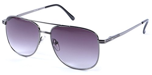 +1.75 Lesung Sonnenbrille Unisex Gun Grau Rahmen Flex Tempel 100% UV-Schutz Leicht Getönte Steigung Linse + Beutel