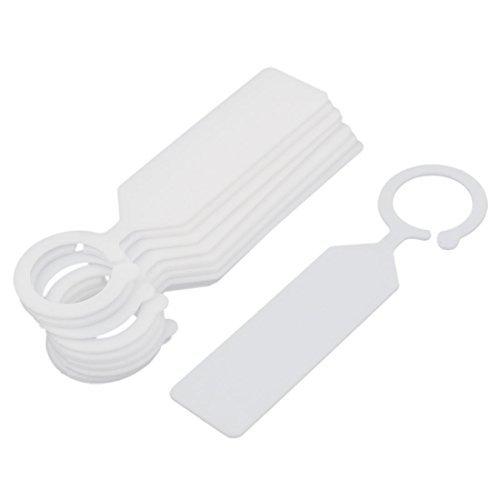 Crochet en plastique Jardin Graine de plantes Hanging Tag Étiquette Marker 10Pcs Blanc
