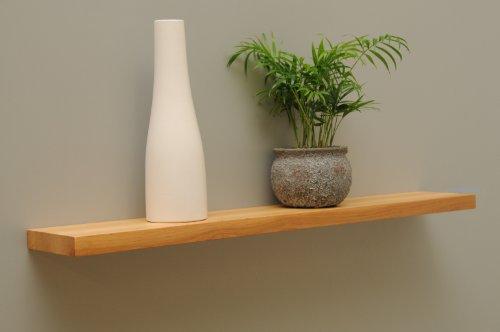 Wandbord Wandboard Design Livingboard Regal massiv Holz - verschiedene Holzarten wählbar - Tiefe:13cm Dicke:25mm (Erle, 80cm)