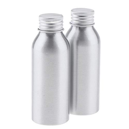 B Blesiya 2pcs Aluminium Leere Kosmetikflasche Kosmetik Behälter für Creme Lotion und Shampoo - 100 ml