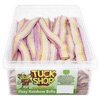 Tuck Shop gaseosas Cinturones raya del arco iris Retro niños Sweets - 200 de la