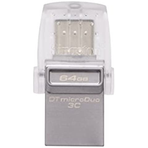Kingston DataTraveler microDuo - Memoria USB 3.0 de 64 GB