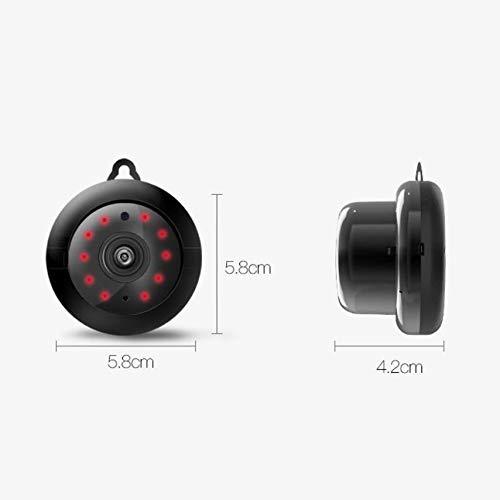 Cmos-sensor Typ (Mini tragbare Babyphone, UFO-Typ Office Monitor WiFi mit Bewegungssensor und Zwei-Wege-Audio for iOS Android Windows (Color : Black))