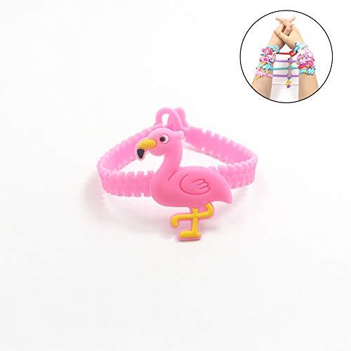 (Die Geburtstags-Party-Silikon-Armband Mermaid 1Cp Flamingo Armbänder von Gefälligkeiten Kinderregenbogen-Armband-Weihnachtsgeschenk-Kit Preis der Lieferungen (Pink))