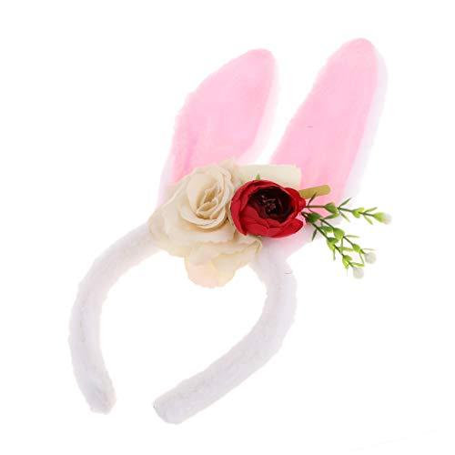 Stil Zubehör Kostüm - IPOTCH Stirnband Haarband Kaninchen Ohr Haarband für Geburtstag Ostern Weihnachten Kostüm Zubehör Party - Stil 4