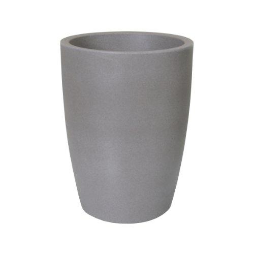 PP-Plastic Blumentopf Verona, Kunststoffbehälter für Pflanzen, Pflanzkübel für Innen- und Außenbereich, in taupe mit Granitoptik, wetterfester Übertopf mit einem Füllvolumen von ca. 21 l