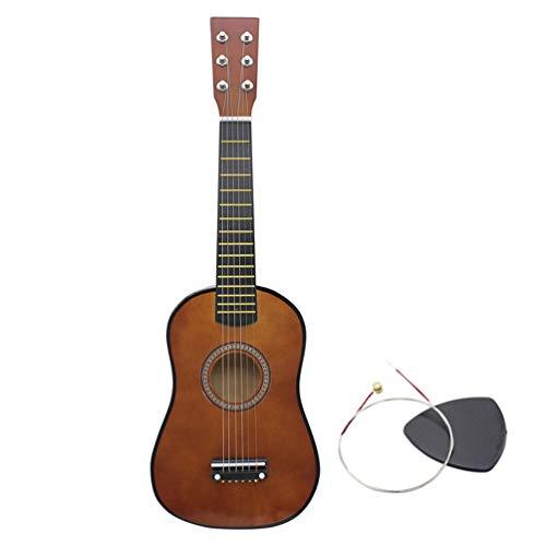 Kleine Gitarre Durable Portable Wooden Small Size 23 Zoll Elegante Tone Gitarre für Anfänger für Kinder Kinder - Kaffee