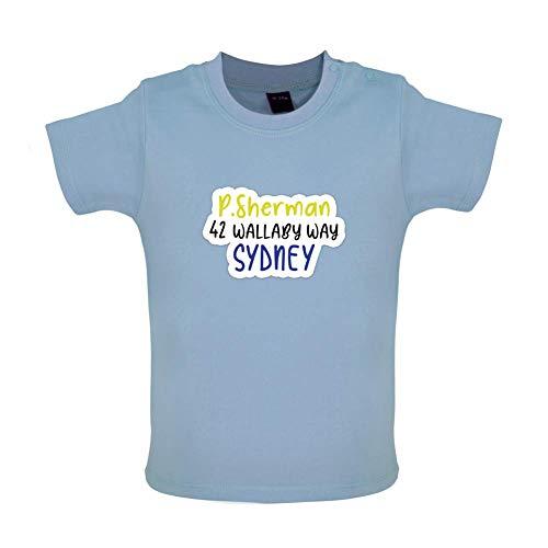 P.Sherman 42 Wallaby Way Witziges Baby T-Shirt - Taubenblau - 12 bis 18 Monate (Findet Nemo Shirt Kleinkind)