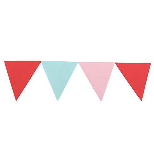 L_shop Dreieck Banner Multicolor hängende Dekoration Wimpel Hochzeit Geburtstag Party Dreieck Flagge Lieferungen