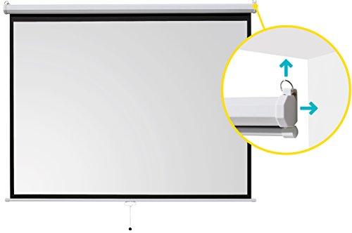 ivolum Rolloleinwand 200 x 150cm Nutzfläche | Format 4:3 | Als Heimkino-Leinwand oder Business-Leinwand einsetzbar | einfach Montage und Bedienung | Beamer-Leinwand in verschiedenen Größen erhältlich - 3