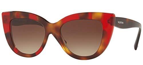 Valentino Damen 0VA4025 505813 51 Sonnenbrille, Rot (Havana Inserts Opal Red/Brawngradient),