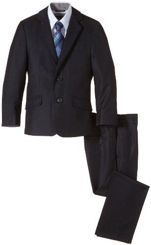 G.O.L. Jungen Bekleidungsset 4-tlg. Anzug, bestehend aus Sakko, Hose, Hemd, Krawatte, Gr. 158, Blau (navy 1)