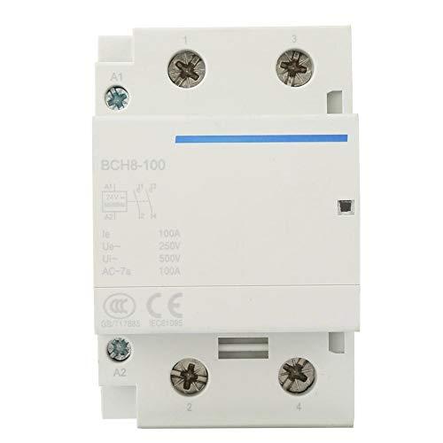 Haushalts-Wechselstrom-Kontaktgeber, 24 / 230V 50 / 60HZ industrieller elektrischer Kontaktgeber 2P / 2NO 100A modularer Kontaktgeber(AC24V) -