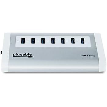 Digitales 7-Port Aluminium USB 3.0 SuperSpeed Hub mit 20 W Netzteil (über VL812 Rev B2 Chipsatz mit v9081 Firmware. Geeignet für Windows, Mac OS X, und Unterstützung für Linux. Volle USB 2.0 rückwärts kompatibel mit.) Größe: 7-Port