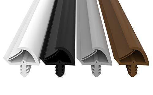 Türdichtung Antidehnungsfaden - 3mm Nutbreite - 7mm Nuttiefe - 12mm Falzbreite schnelles einfaches Einbauen hochwertige Haustürdichtung Gummidichtung Türanschlagdichtung Türdichtung (Grau 5m)