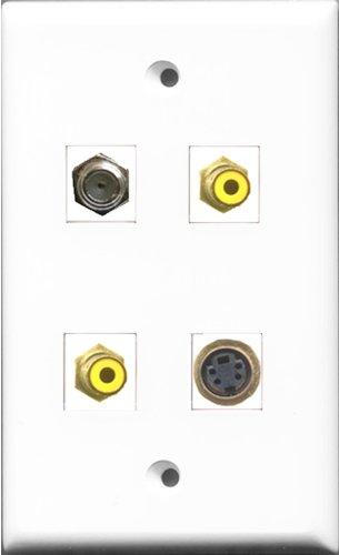 RiteAV-2RCA gelb und 1Port Koax-Kabel, Accessoires F 1Port S-Video-Wanddose -