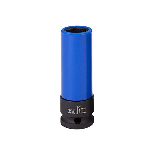 Kraft-Schoneinsatz 17mm für Alu-Felgen I WIESEMANN 80294 I Für Schlagschrauber I Kraft-Steckschlüssel-Satz I Schonnüsse I Impact Socket I 0,5 Zoll