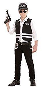 Polizei - Jacke und Mütze - Kinder Kostüm Kostüm - Alter 8-10 - 140cm (Polizei Outfit Für Kinder)