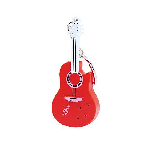 mAjglgE Schlüsselanhänger, lustige Gitarre mit LED-Licht, mit Schlüsselanhänger, hängendes Ornament