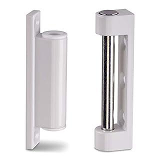 2 x Fensterbänder 75 mm weiß RAL 9016 Reparaturbänder Renovierbänder Aufschraubbänder von SO-TECH