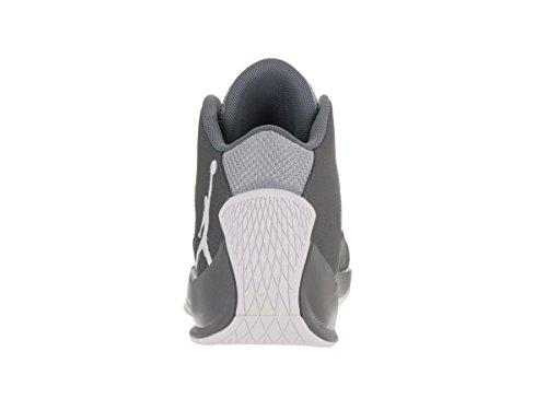 Nike Jordan Rising High 2, espadrilles de basket-ball homme Gris (Wolf Grey / White-Cool Grey-Infrared 23)