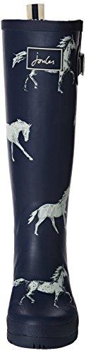 Joules U_wellyprint, Bottes femme Bleu - Blue (NAVY HORSE)