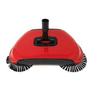 Automatisher Sweeper Besen Spin Broom 3 in 1 360 rotierende Hand Push Haushalt Workshop Fussboden Staub Kehrmaschine ohne Strom mit Schaufel Original As Seen on TV