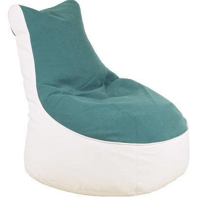 Sitzsack Lotos-Genua Farbe (Genua): Petrol, Farbe (Lotos): Weiß