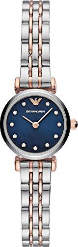 Emporio Armani Damen Analog Quarz Uhr mit Edelstahl Armband AR11222
