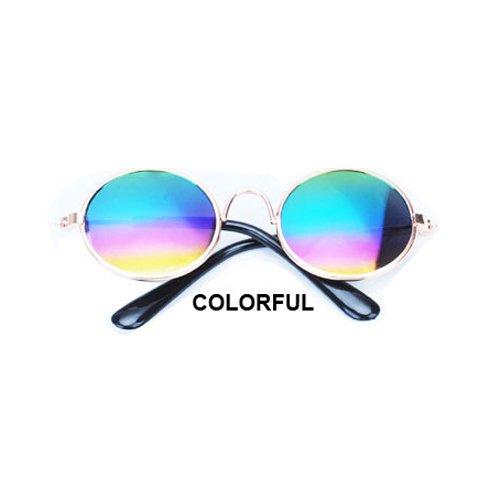Aprigy - Cat Eye-Wear Pet Sonnenbrille Little Dog Glas-Katze Brille Fotos Props Hund Katze Zubeh?r Tierbedarf f¨¹r Haustier-Produkte [Bunt ]