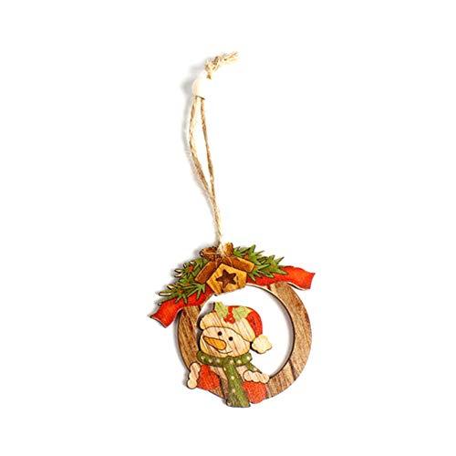 r Weihnachten Elch Schneemann Dekoration Weihnachtsbaumschmuck Weihnachts-Anhänger für Wohnzimmer Büro (Schneemann-6.5 * 7cm) ()