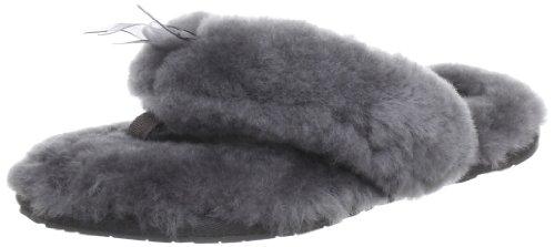 UGG W Fluff Flip Flop 1003492 Damen Hausschuhe Grau (Grey)