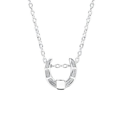 Jo for Girls - Silver Horseshoe Pendant